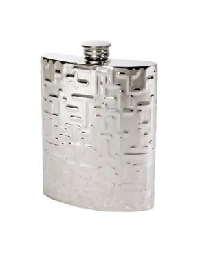 6oz Metropolitan pewter kidney hip flask