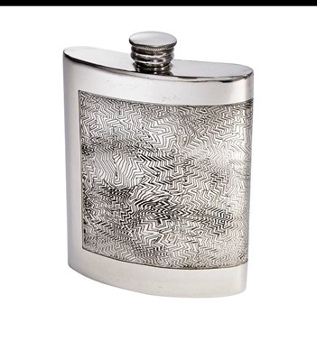 6oz Red Room Pewter Kidney Flask