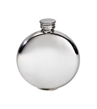 4oz Round Plain Pewter Flask