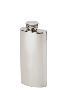 2oz Plain Pewter Purse Flask
