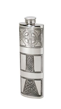 3oz celtic cross pewter purse flask