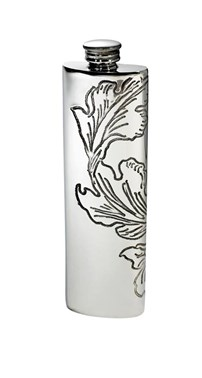 Acanthus Pattern Pewter Purse Flask