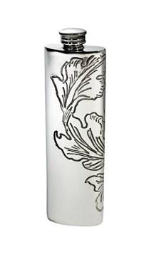 Acanthus Pattern Pewter Purse Flask