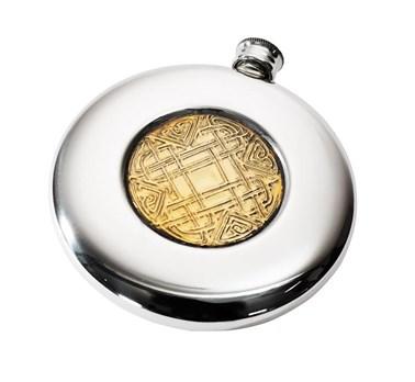 4oz Celtic Gold pewter sporran flask