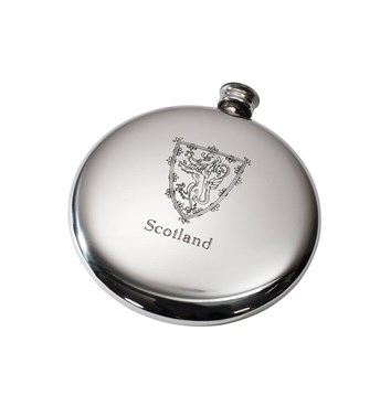 4oz Lion of Scotland Pewter Sporran Flask