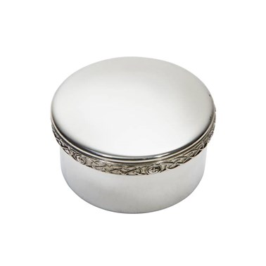 Small celtic pewter trinket box