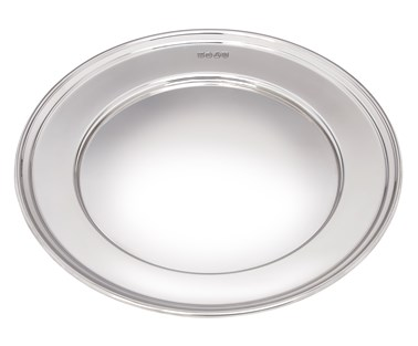 Large Polished finish pewter Plate