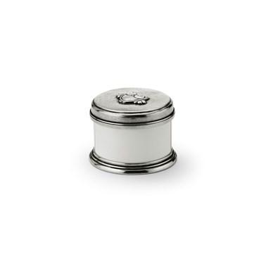 Pewter & ceramic keepsake box