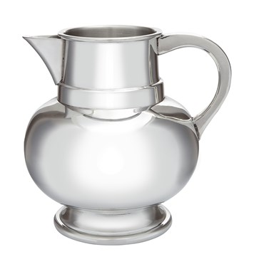 TWO Pint Pewter Water Jug Beer Pitcher