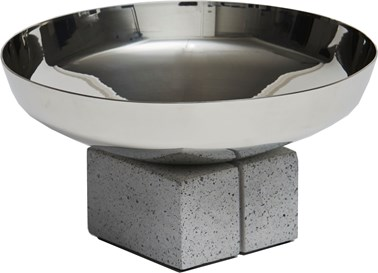 Topian Pewter and Concrete Bowl