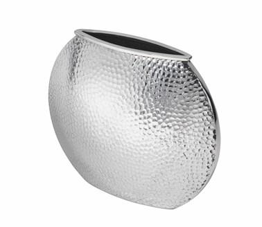 Hammered large round vase