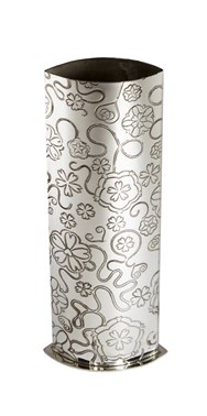 Medium Yorkshire Rose Pewter Vase