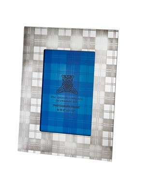 "Small Tartan 5""x3.5"" Pewter Picture Frame"