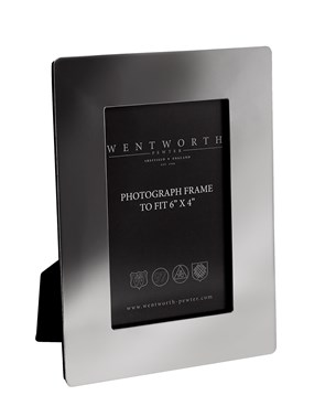 "Plain pewter 6""x 4"" Picture frame"