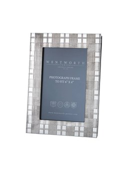 "Medium Tartan Pewter 6""x4"" Picture Frame"