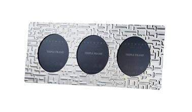 Triple Metropolitan Pewter Frame