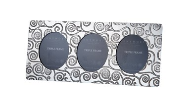 Tree of Life Pewter Triple Frame