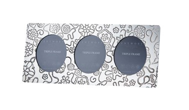 Triple Yorkshire Rose Pewter Frame