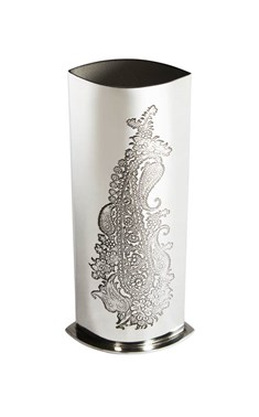 Single Paisley pewter budvase