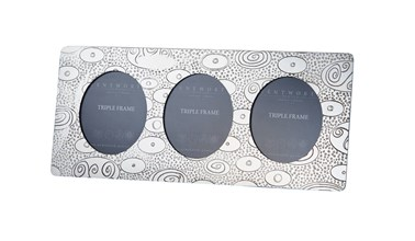 Triple Ovals Pewter Frame