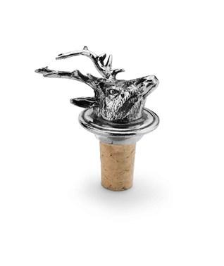 Pewter deer wine cork