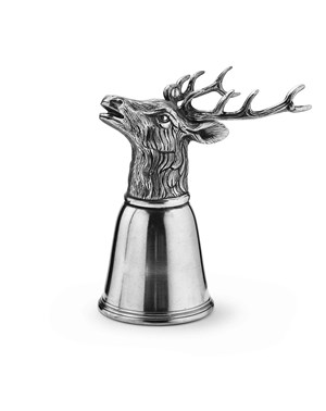 Pewter deer tumbler