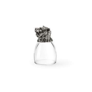 Pewter shot glass bear