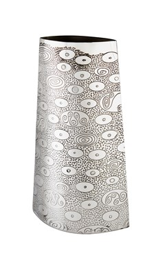 Large Ovals pewter Vase