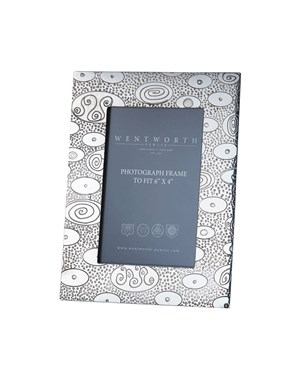 "Ovals Pewter 6""x4"" Picture Frame"