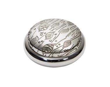 Leaf Pewter Trinket Box