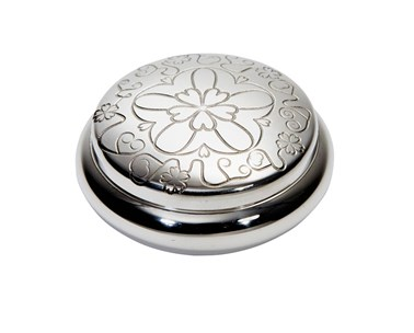 Yorkshire Rose pewter trinket Box