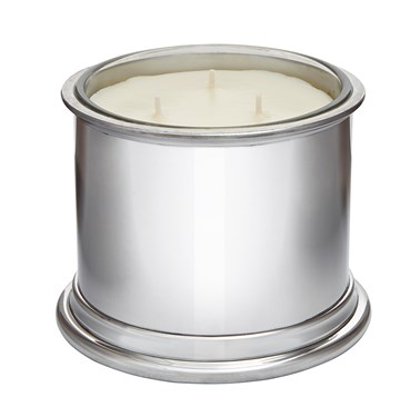 Large Plain Pewter Candle Votive
