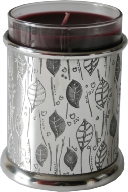 Leaf Pewter Candle Votive