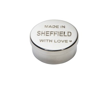 Made in Sheffield Small Pewter Trinket Pill Box