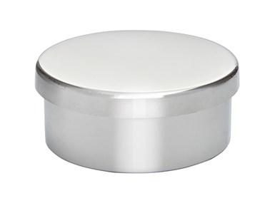 Plain pewter small trinket pill box