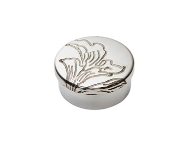 Acanthus Pattern Small Pewter Trinket Pill Box