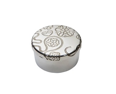 Yorkshire rose small pewter trinket pill box