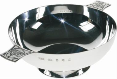 Sterling silver 4 inch quaich
