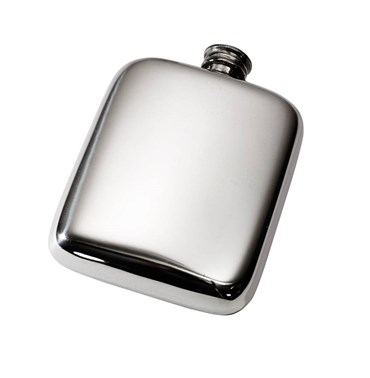 4oz Plain Pewter Pocket Flask