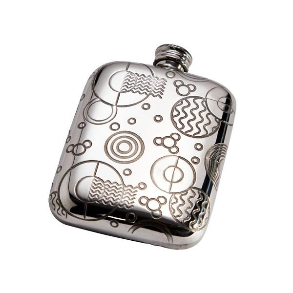 4oz Retro Pewter Pocket Flask