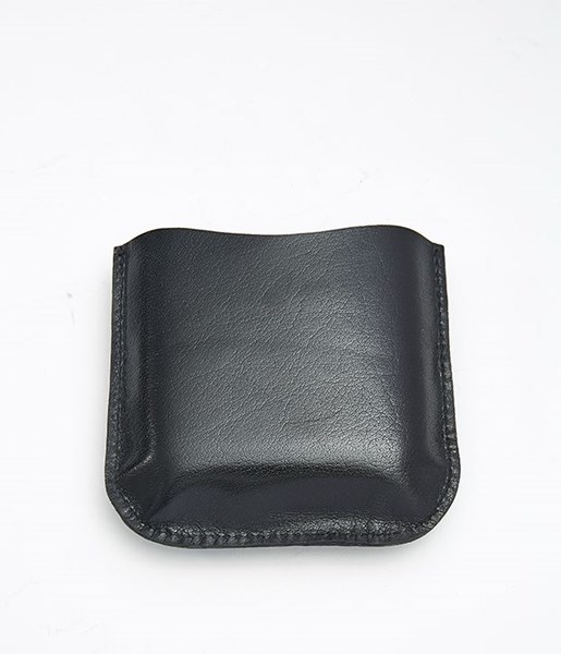 Black Leather Pouch to fit 4oz pocket flasks