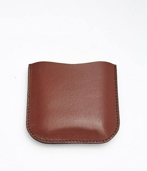 Brown Leather Pouch to fit 4oz pocket flasks