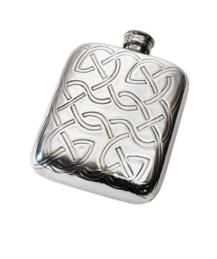 Celtic Knot 4oz pewter pocket flask