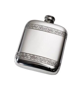 Celtic Bands pewter pocket flask