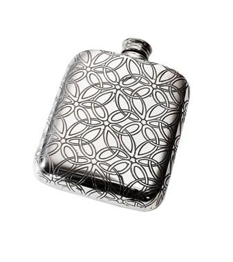 Triquetra 4oz Pewter Pocket Flask