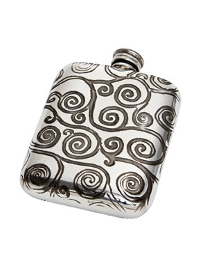 Tree of Life 4oz pewter Pocket Flask
