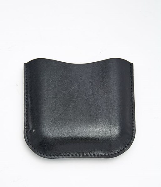 Black Leather Pouch to fit 6oz pocket flasks