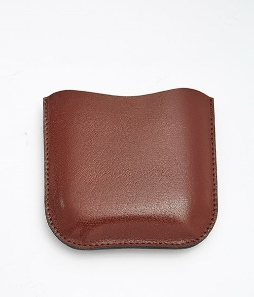 Brown Leather Pouch to fit 6oz pocket flasks