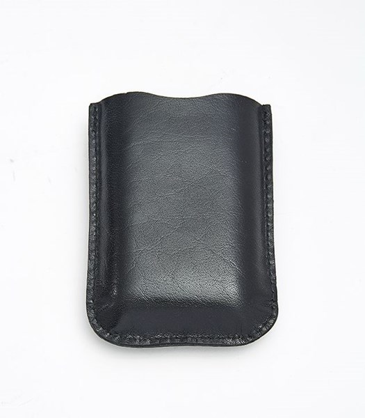 Black Leather Pouch to fit 3oz pocket flasks