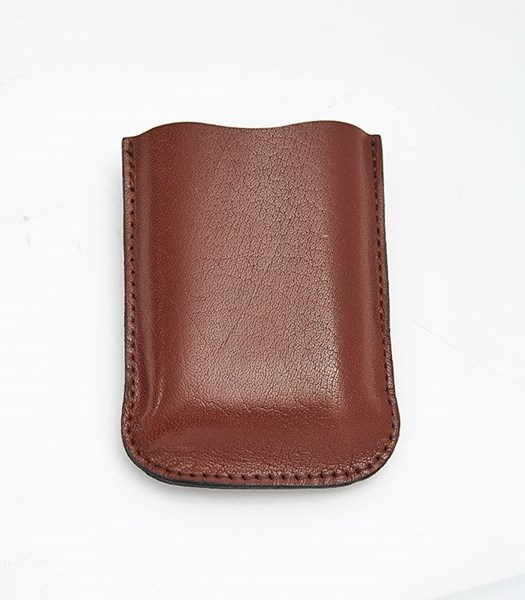 Brown Leather Pouch to fit 3oz pocket flasks